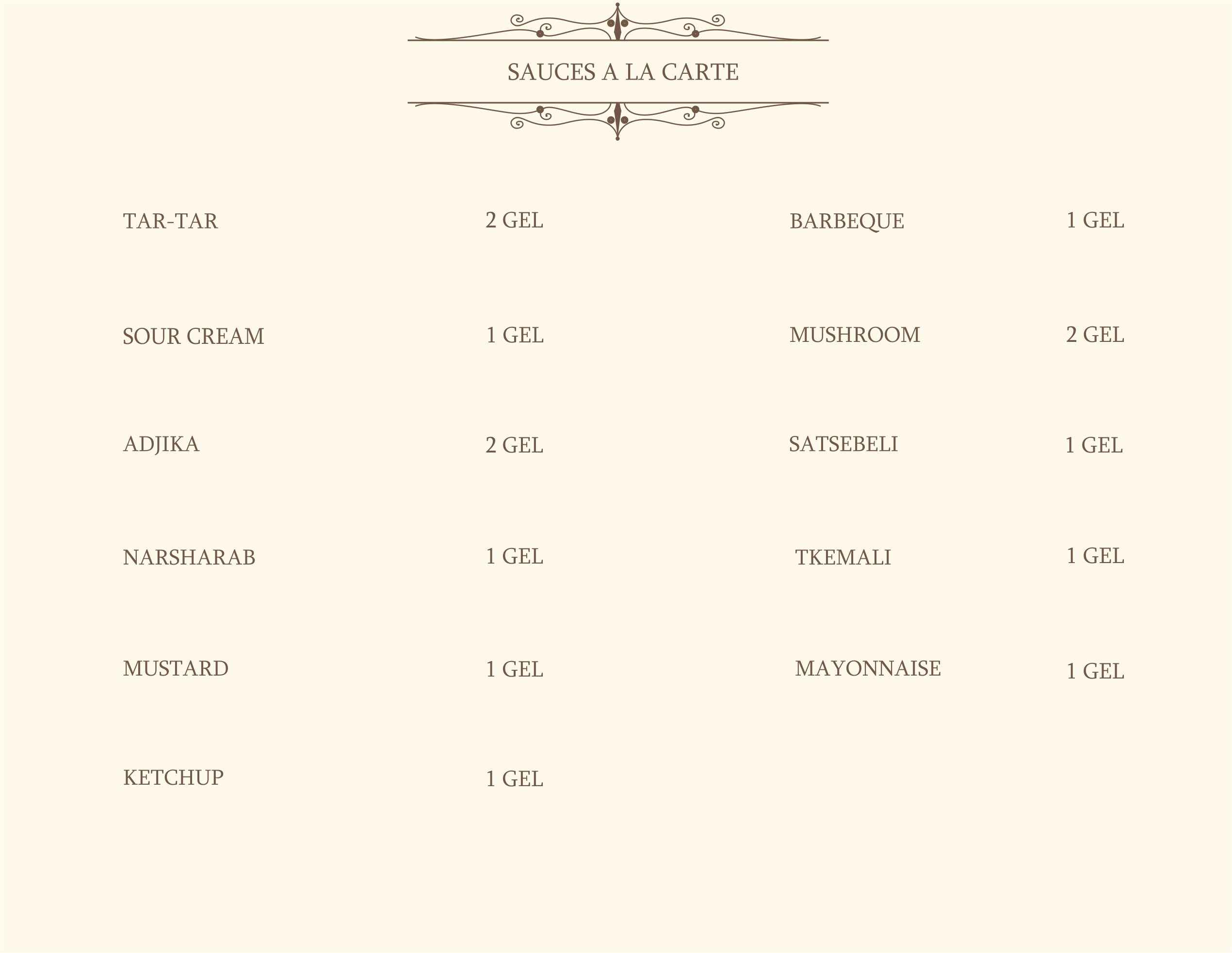 SL Casino Bar Menu, Page 4