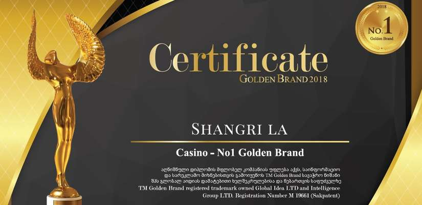 The Golden Brand Award Was Given to Shangri La Casino Tbilisi